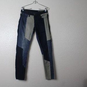 Blank NYC Patchwork Denim Skinny Jeans. Size 28